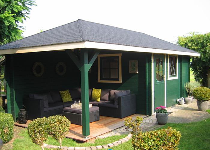 Tuinhuis en blokhut in Bussum